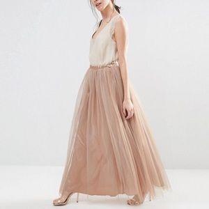 ASOS True Decadence Tall Tule long gown skirt